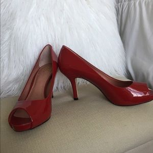Red Vince Camuto Heels 6
